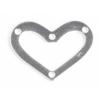 SS.925 Open Heart Flat 2 Hole 20x15mm Approx 8.58gm